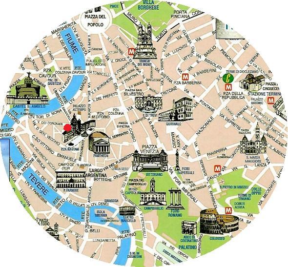Rome-Tourist-Map