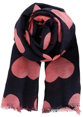 Becksondergaard-Big-Hearts-Scarf-in-Electric-Coral