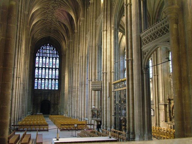 Canterbury-Cathedral-Kent-Interior-of-Nave